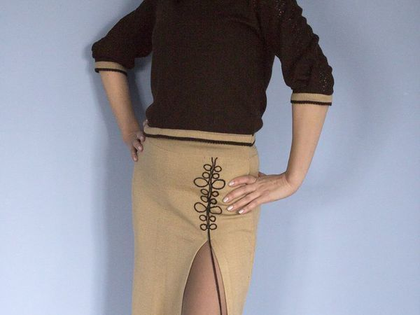 Аукцион на вязаный костюм  Старт 2000руб | Ярмарка Мастеров - ручная работа, handmade