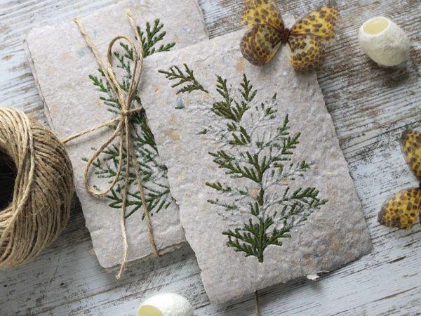 Создаем открытку из макулатуры с ботаникой | Ярмарка Мастеров - ручная работа, handmade