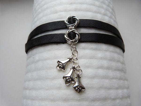 Делаем простой кожаный браслет с подвеской | Ярмарка Мастеров - ручная работа, handmade