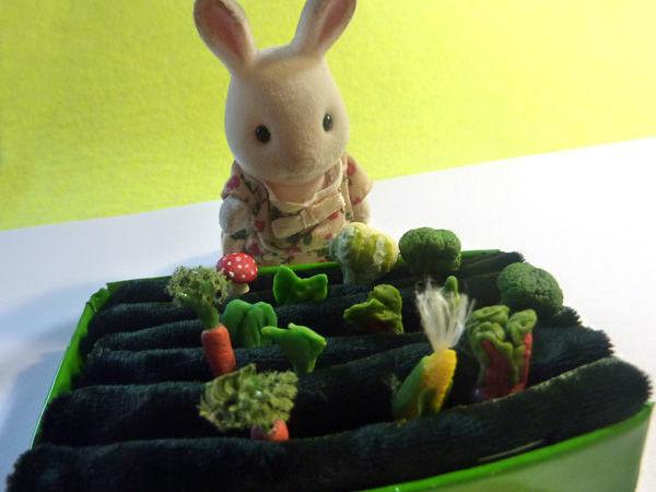Как сделать огородик для игрушечных овощей | Ярмарка Мастеров - ручная работа, handmade