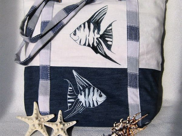 Создаем стильную сумку «Море зовет» своими руками | Ярмарка Мастеров - ручная работа, handmade