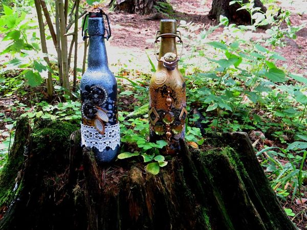 Video Tutorial: Decorating Bottles with Lace | Livemaster - handmade