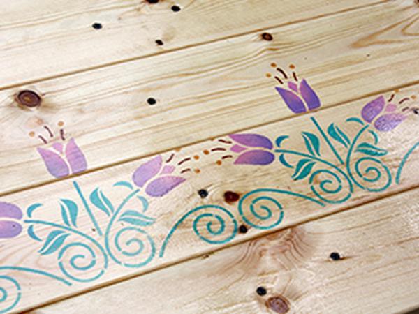 Декор лавки. Использование трафарета-бордюра   Ярмарка Мастеров - ручная работа, handmade