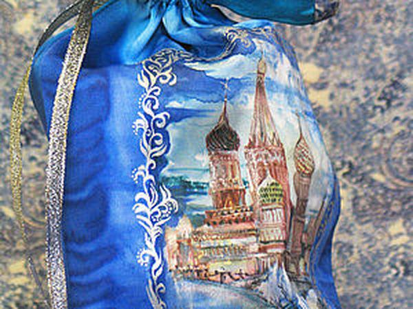 Изготовление сложной подарочной упаковки с рисунком по ткани | Ярмарка Мастеров - ручная работа, handmade