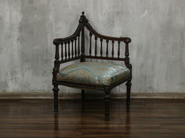 Интересная находка. Спасение антикварного углового кресла | Ярмарка Мастеров - ручная работа, handmade