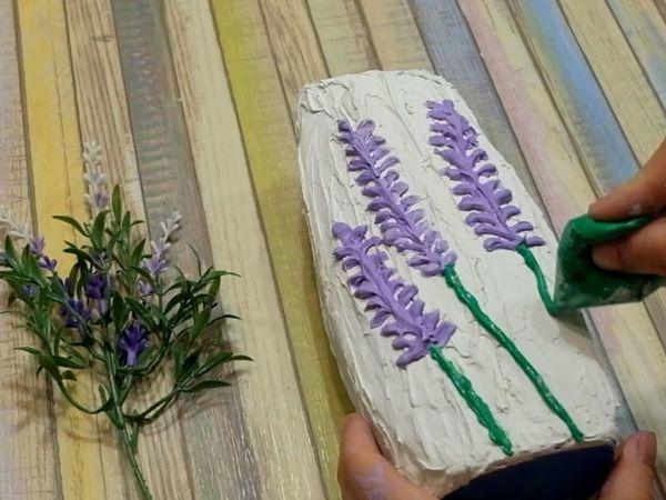 Делаем вазу из шпаклевки и бутылки шампуня | Ярмарка Мастеров - ручная работа, handmade