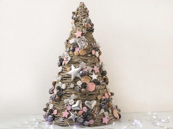 Создаем новогоднюю декоративную ёлочку | Ярмарка Мастеров - ручная работа, handmade