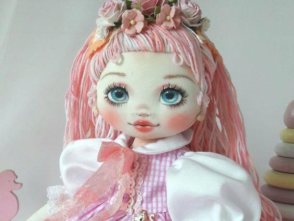 Делаем волосы из пряжи для куклы из ткани | Ярмарка Мастеров - ручная работа, handmade