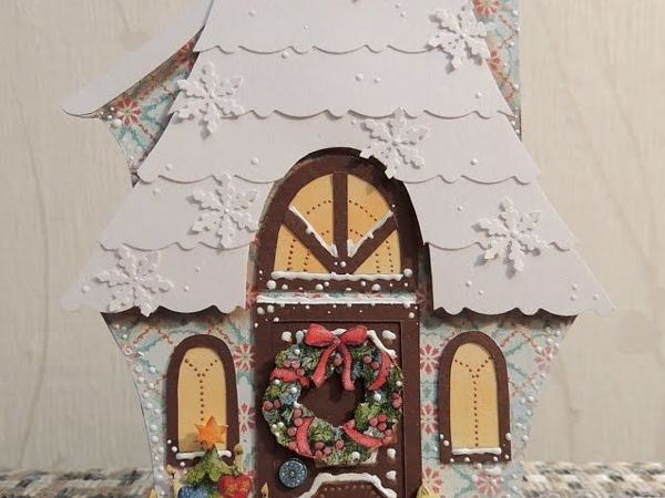 Зимний домики-открытки | Ярмарка Мастеров - ручная работа, handmade