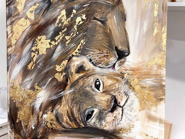 Львиное сердце картина маслом в формате (видео)   Ярмарка Мастеров - ручная работа, handmade