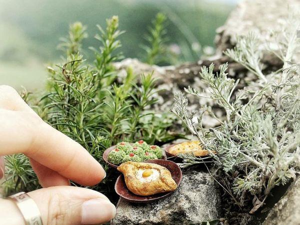 Лепим миниатюру из полимерной глины. Хачапури по-аджарски | Ярмарка Мастеров - ручная работа, handmade
