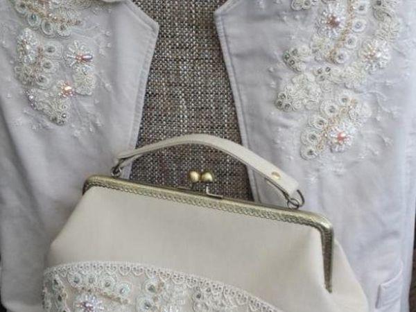 27c8e267d3e9 «Сверкающий Лёд»: украшаем жакет и сумочку кордовым кружевом, бисером и  кристаллами
