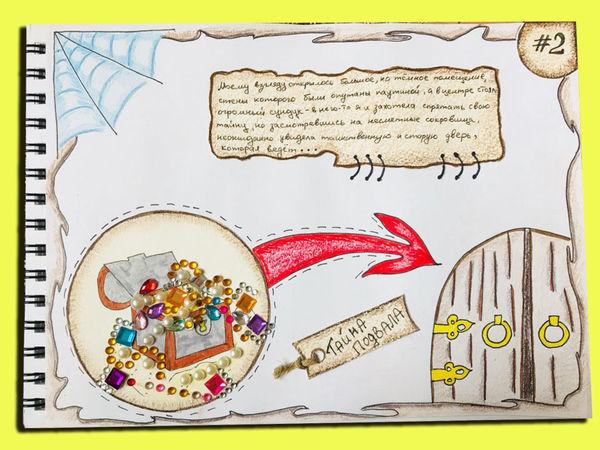 Рисуем старинный сундук и наполняем его сокровищами | Ярмарка Мастеров - ручная работа, handmade