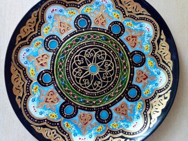 Декоративная тарелка в восточном стиле | Ярмарка Мастеров - ручная работа, handmade