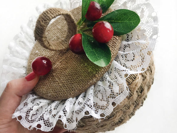 DIY Плетеная корзинка из джута | Ярмарка Мастеров - ручная работа, handmade