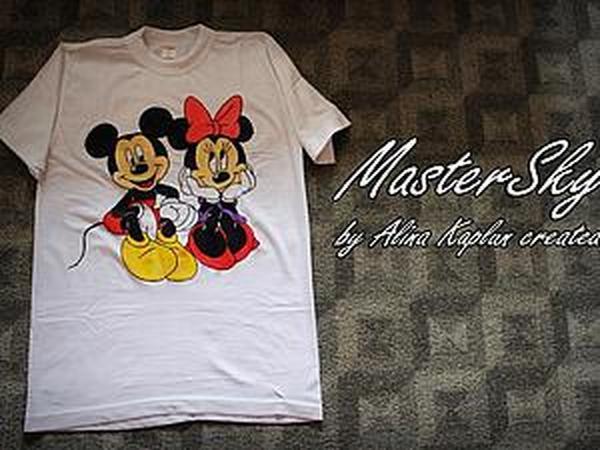 Как сделать рисунок на футболке красками по текстилю | Ярмарка Мастеров - ручная работа, handmade