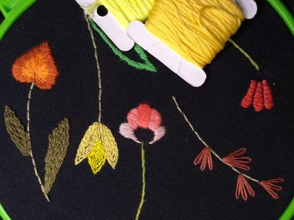 Вышивка гладью для начинающих (занятие 3)   Ярмарка Мастеров - ручная работа, handmade