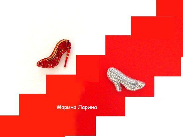 Создаем броши  «Туфельки»  из бисера | Ярмарка Мастеров - ручная работа, handmade