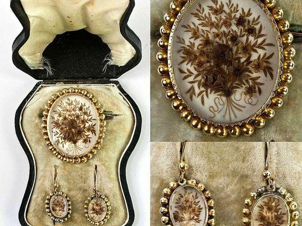 Викторианские траурные украшения из волос | Ярмарка Мастеров - ручная работа, handmade