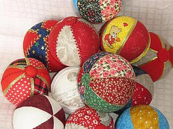 Шьем лоскутные мячики   Ярмарка Мастеров - ручная работа, handmade