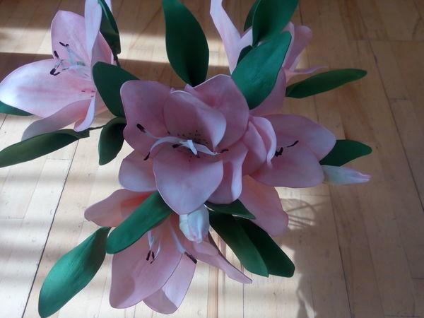 Делаем из фоамирана нежные лилии | Ярмарка Мастеров - ручная работа, handmade