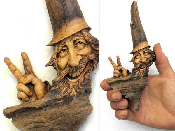 Нэнси Татл превращает коряги и обломки деревьев в сказочные деревянные скульптуры | Ярмарка Мастеров - ручная работа, handmade