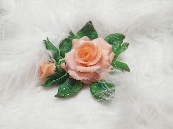 Сборка розы из полимерной глины | Ярмарка Мастеров - ручная работа, handmade