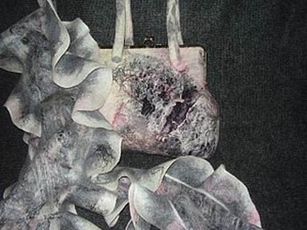 Делаем валяную сумку с элементами нунофелтинга | Ярмарка Мастеров - ручная работа, handmade