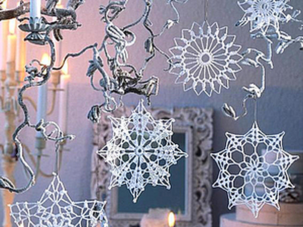Украшаем дом новогодними снежинками: 58 вариантов вязания крючком   Ярмарка Мастеров - ручная работа, handmade