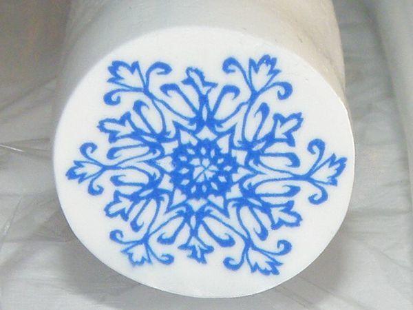 Создаем трость (кейн) ажурной снежинки из полимерной глины | Ярмарка Мастеров - ручная работа, handmade