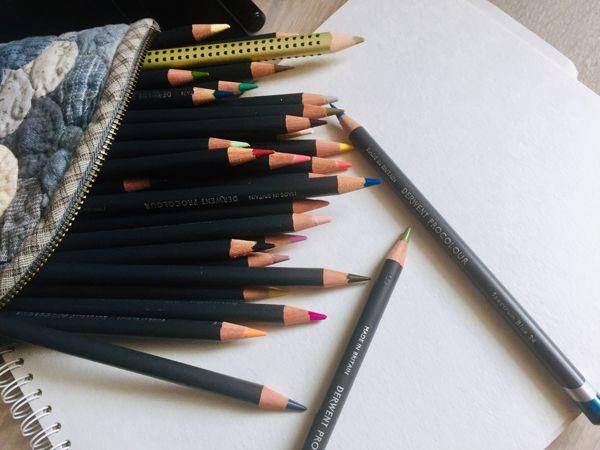 Техники работы художественными цветными карандашами. Виды штриховок | Ярмарка Мастеров - ручная работа, handmade