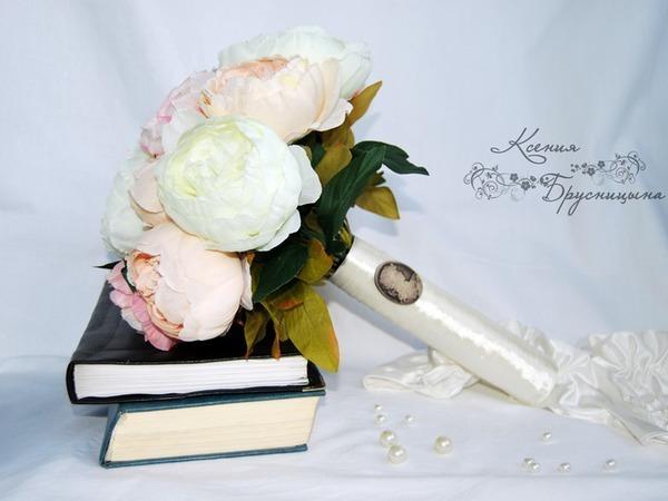 Делаем из искусственных пионов нежный букет невесты | Ярмарка Мастеров - ручная работа, handmade