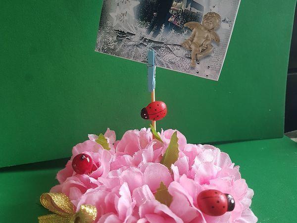 Видео мастер-класс: создаем держатель для мини-фото «Сакура»   Ярмарка Мастеров - ручная работа, handmade