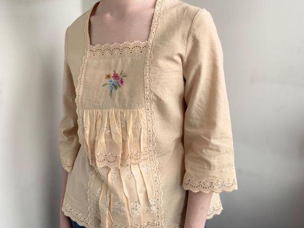 Романтика ХХ века — блуза с вышивкой   Ярмарка Мастеров - ручная работа, handmade