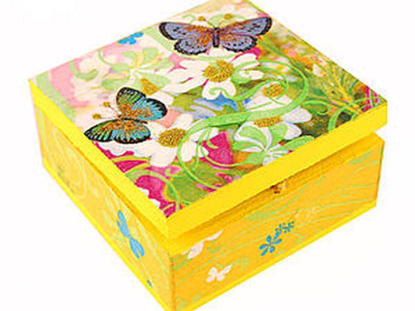 Декорирование шкатулки в технике декупаж – «Разноцветный мир» | Ярмарка Мастеров - ручная работа, handmade
