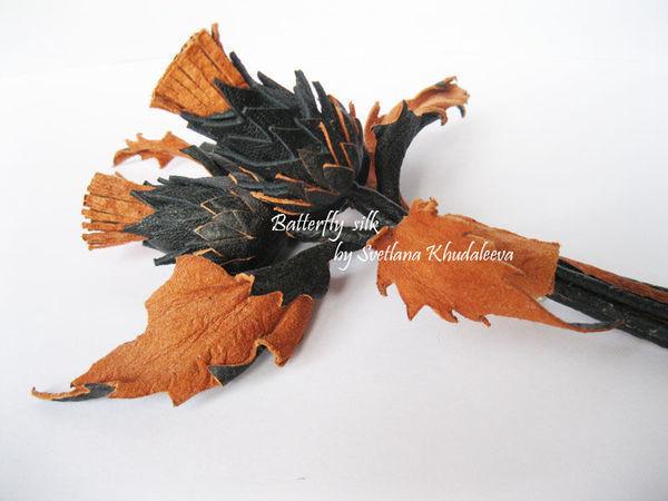 Делам брошь «Чертополох» из кожи. Часть 1 | Ярмарка Мастеров - ручная работа, handmade