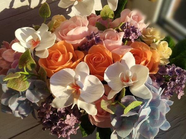 Акция на шикарную корзину цветов | Ярмарка Мастеров - ручная работа, handmade