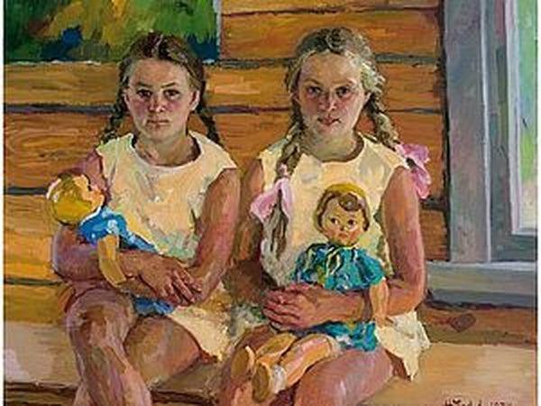 Дети и куклы в русской живописи. От 60-х до наших дней | Ярмарка Мастеров - ручная работа, handmade