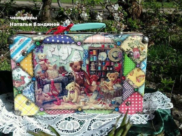 Новая жизнь старого чемодана: плюшевое счастье   Ярмарка Мастеров - ручная работа, handmade