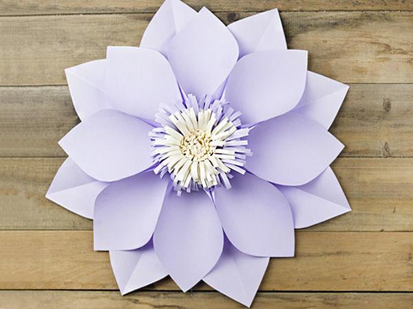 Мастерим простые цветы из бумаги. Часть 1 | Ярмарка Мастеров - ручная работа, handmade