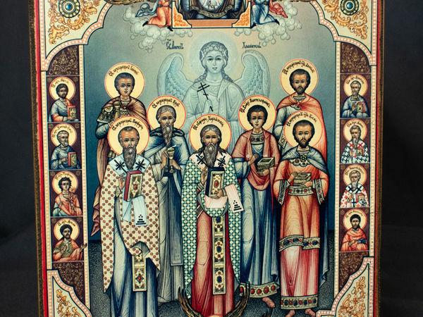 Икона  «Собор святых врачей и целителей бессребреников.» | Ярмарка Мастеров - ручная работа, handmade