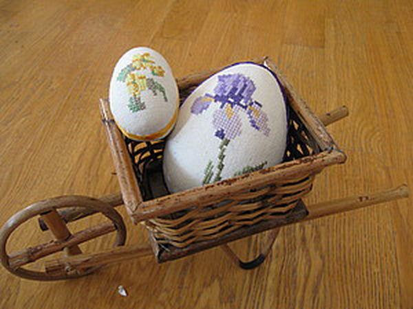 Embroidered Easter Eggs DIY   Livemaster - handmade