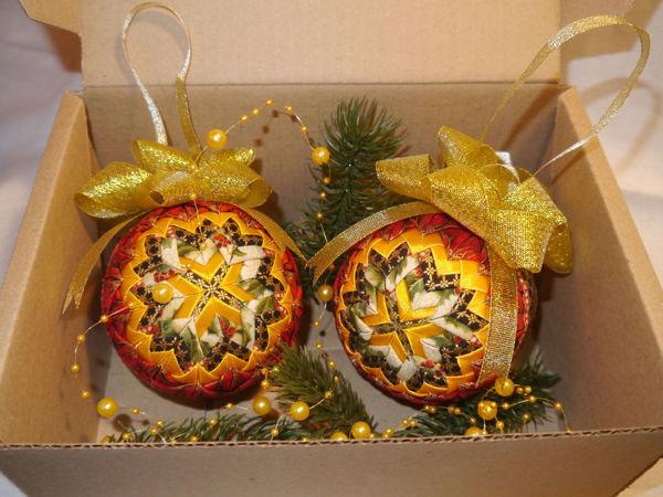 Елочное украшение — новогодний шар в технике «артишок» «Рождество» | Ярмарка Мастеров - ручная работа, handmade