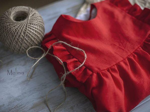 Льняные сказки. Как Маша счастье нашла, или Где мы находим пуговки для платья | Ярмарка Мастеров - ручная работа, handmade