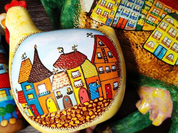 Декорируем курочку точечной росписью | Ярмарка Мастеров - ручная работа, handmade