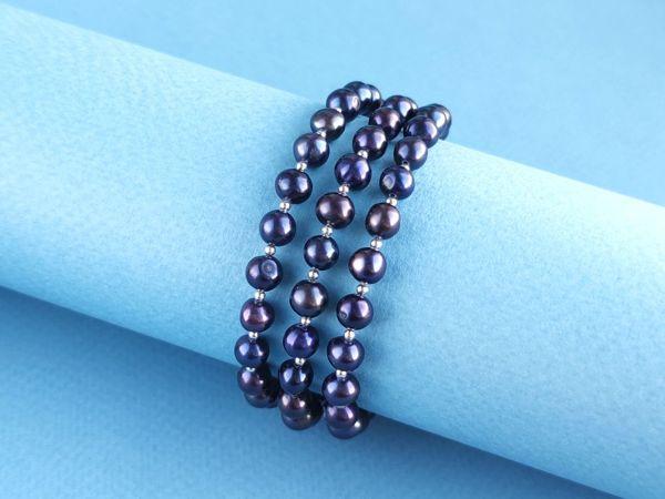 Новые украшения с черным жемчугом | Ярмарка Мастеров - ручная работа, handmade