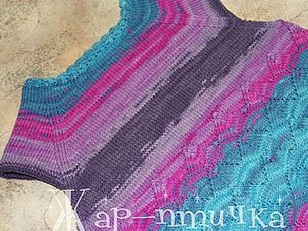 Вязание горловины укороченными рядами(спицы) | Ярмарка Мастеров - ручная работа, handmade