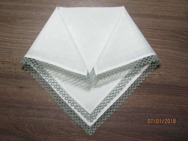 Делаем носовые платочки с кружевом фриволите | Ярмарка Мастеров - ручная работа, handmade
