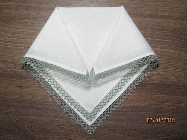 Making Handkerchiefs with Tatting Lace | Livemaster - hecho a mano - handmade
