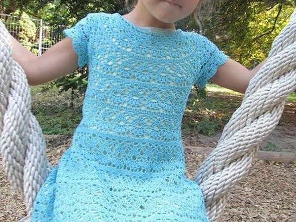Видео мастер-класс: детское платье «Лилии» крючком | Ярмарка Мастеров - ручная работа, handmade